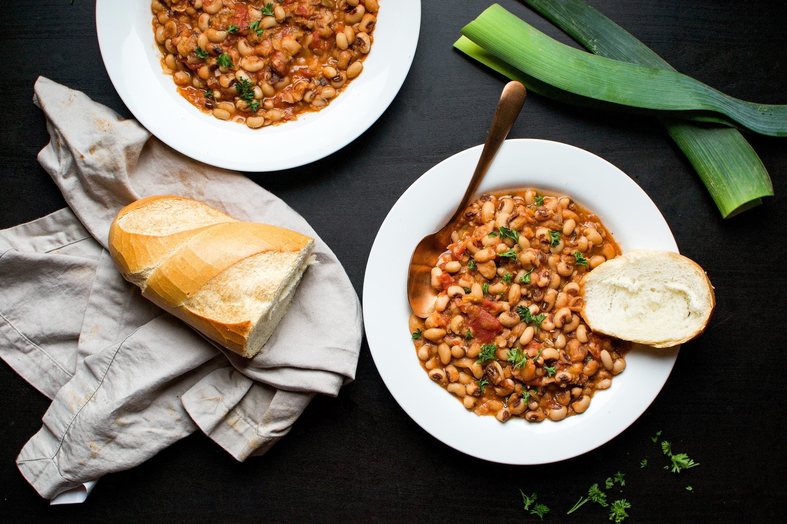 Black eyed pea stew with leeks tomatoes vegan cooks with soul forumfinder Image collections